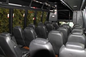 Individual Leather Seating & a Big Screen Monitor.