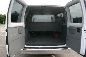 Rear Seat Removed for Luggage Storage.